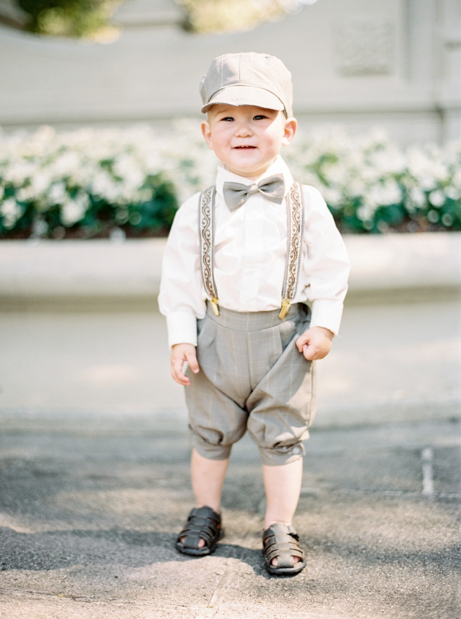 Adorable ring bearer / train conductor