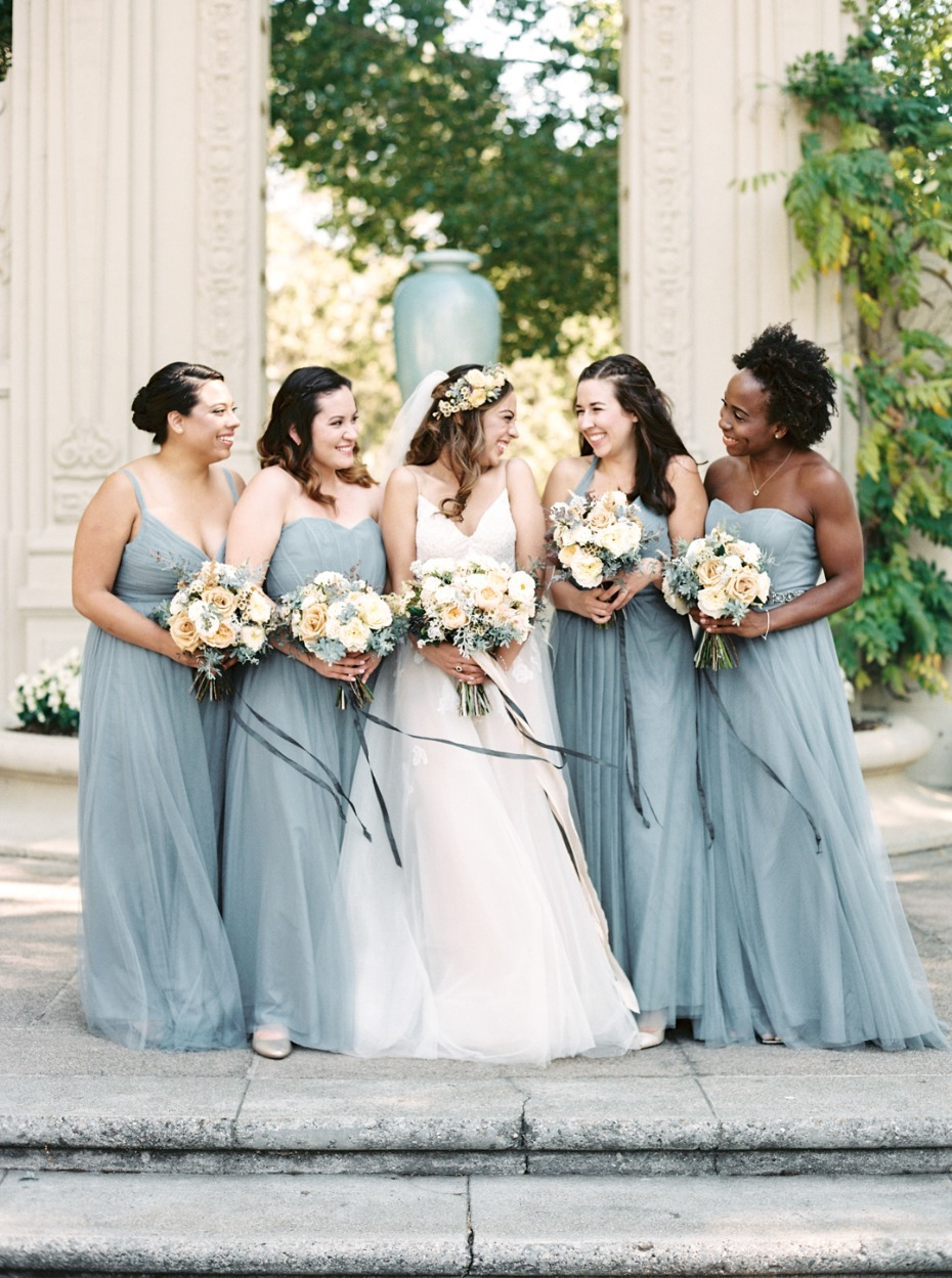 Gorgeous garden bridal party