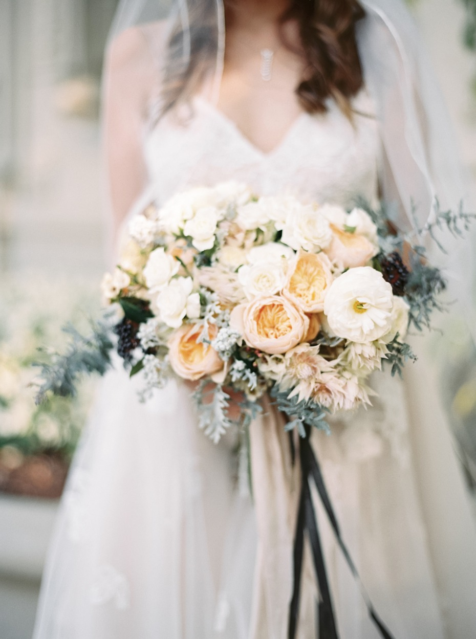 Muted-colors garden bouquet