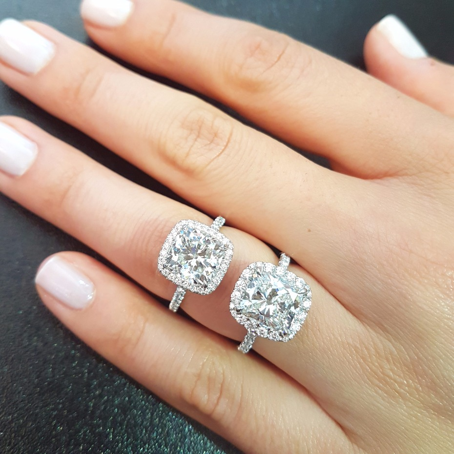 square cute diamond rings from Lauren B