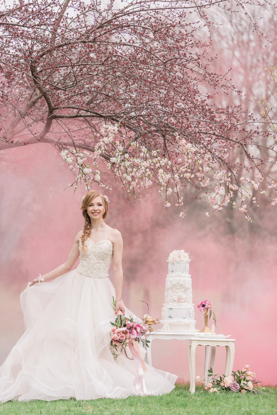 Cherry blossoms, smoke bombs and a lovely cake