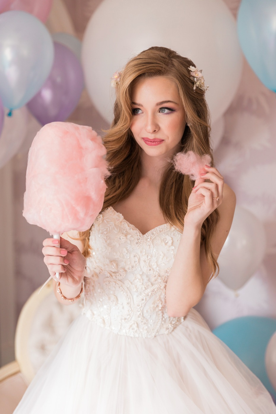 Cotton candy for the bride