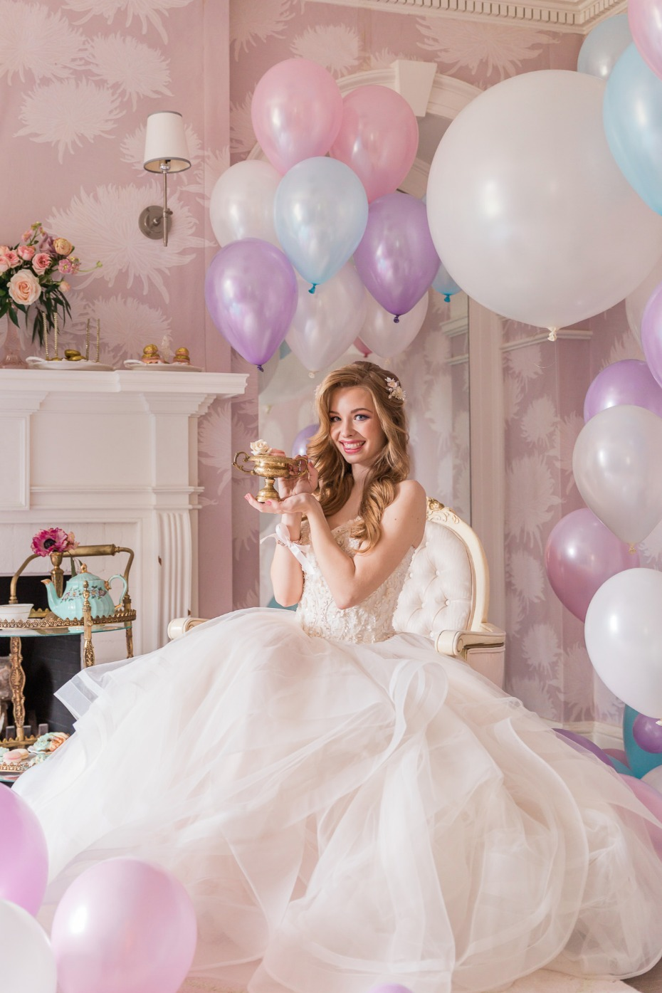 Pastel bridal tea party