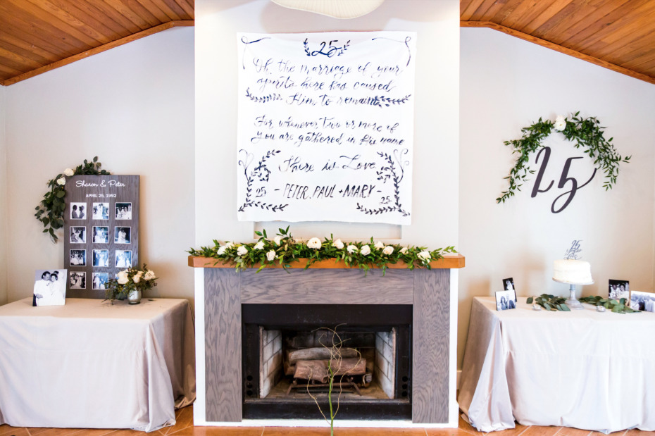 25th weddning anniversary party ideas