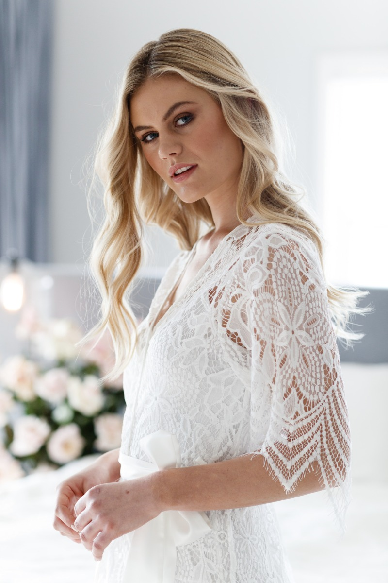 Our exclusive Poppy Lace Maxi robe is the perfect robe for the 'Bride to Be' to make the ultimate statement
