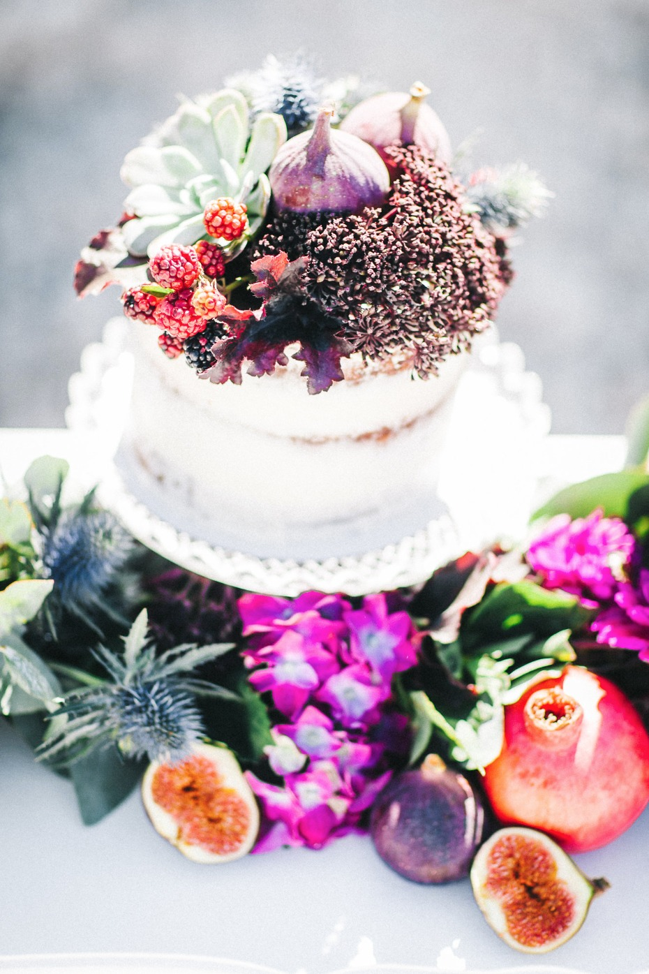Fig and succulent cake