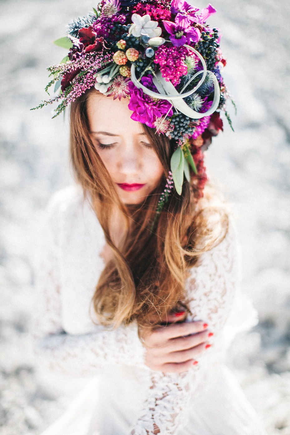 Berry beautiful floral headpiece
