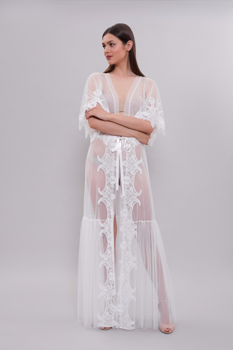 Sexy Tulle Bridal Robe by ApilatLingerie