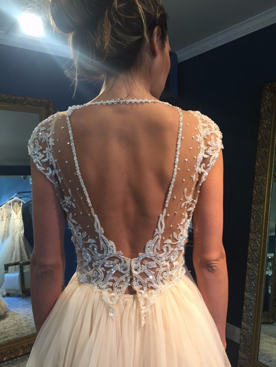 Gorgeous keyhole back dress from Galia Lahav on Still White