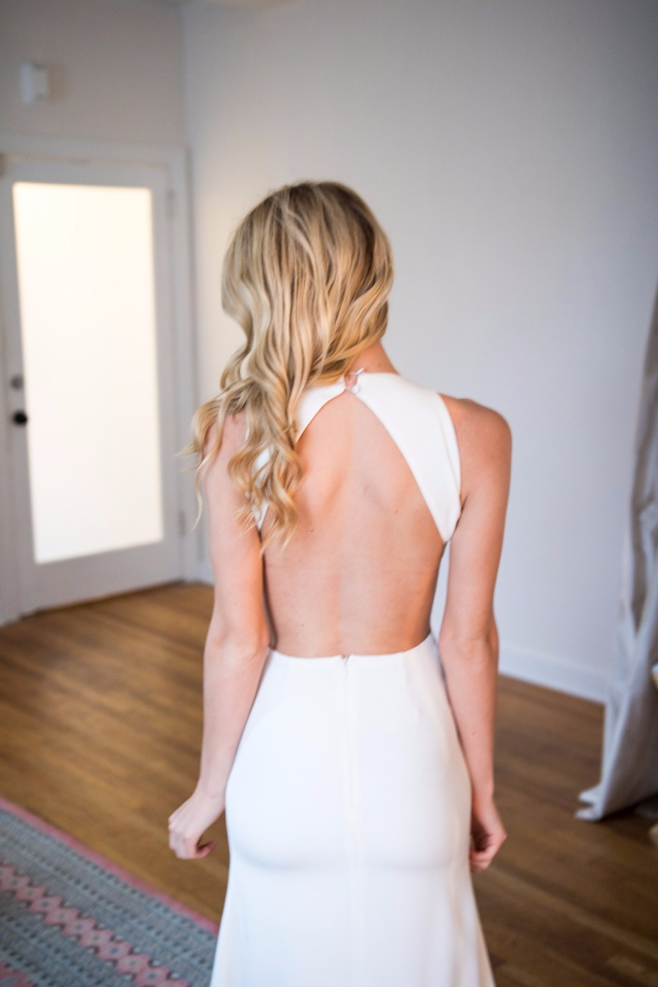 LOVE this minimalist Sarah Seven gown - now available on Still White