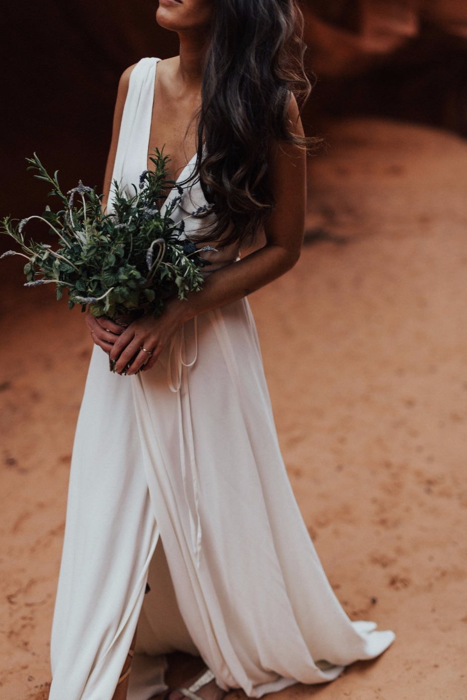 Eco-friendly wedding dress on Still White