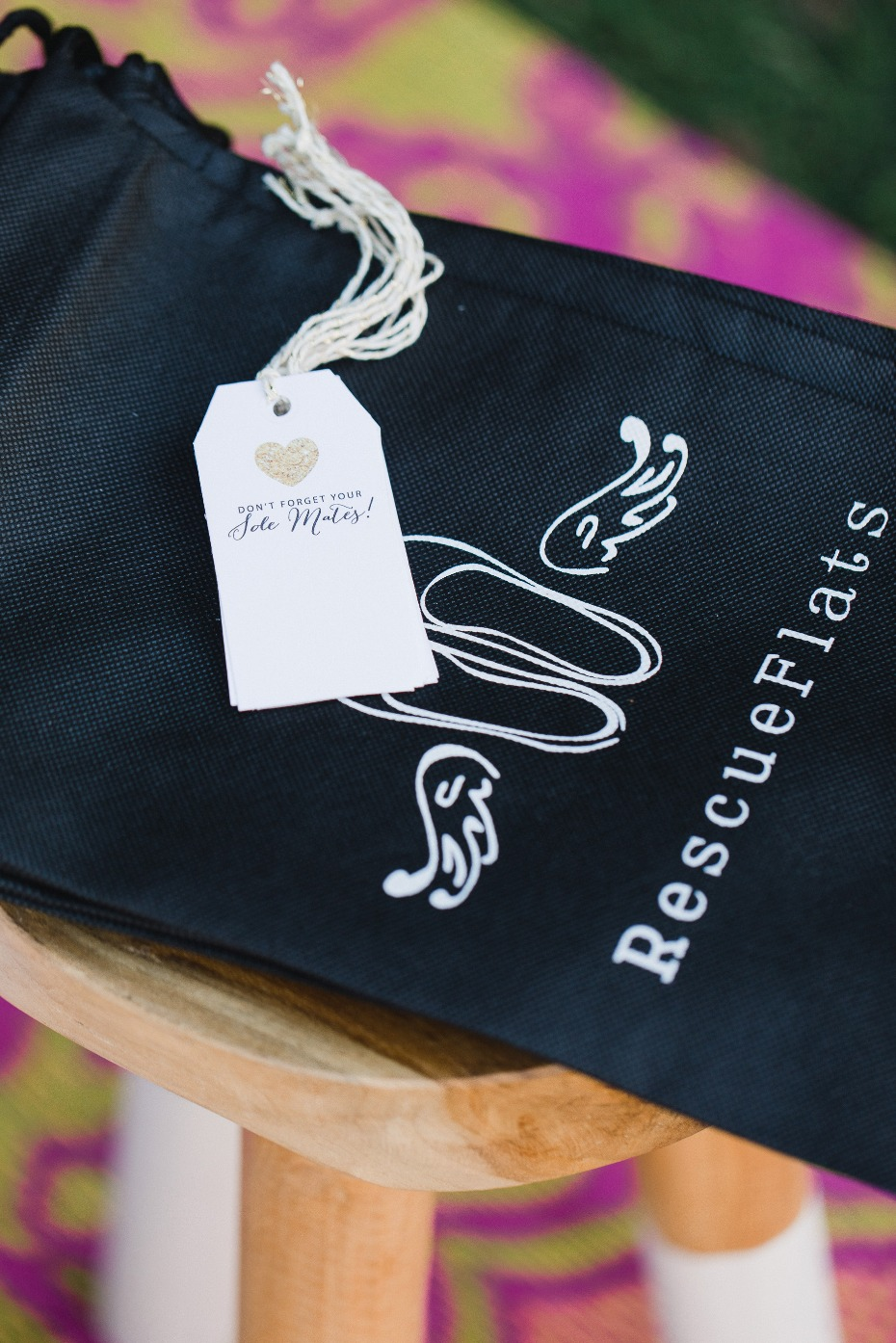 don't forget your sole mates shoe bags for your guests heels