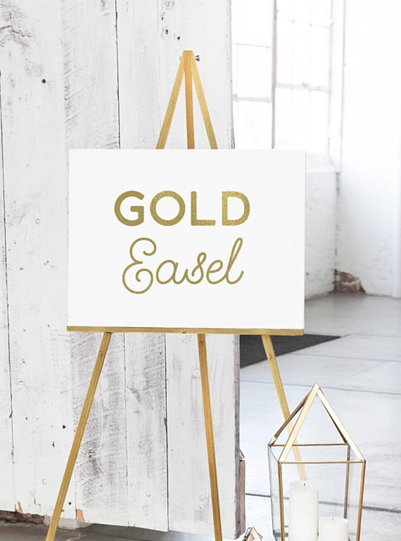 If you are looking for an easel to display your guest book canvas or wedding signage, these economically priced easels by Miss Design