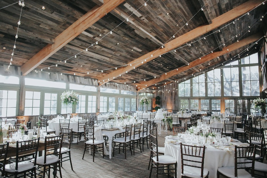 rustic chic wedding reception idea