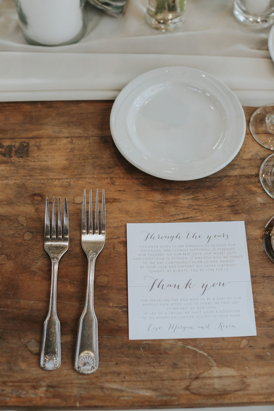 thank you cards from the bride and groom