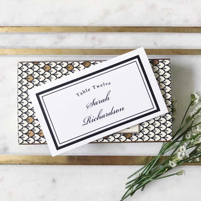 A traditional design for a classic bride. Place cards can add such an elegant touch to your day!