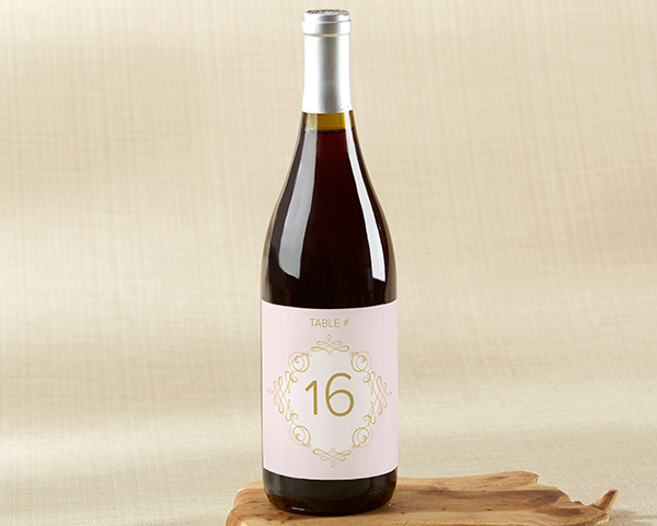 💕 Number your tables with a treat using Modern Romance Wine Label Table Numbers 1 through 20!