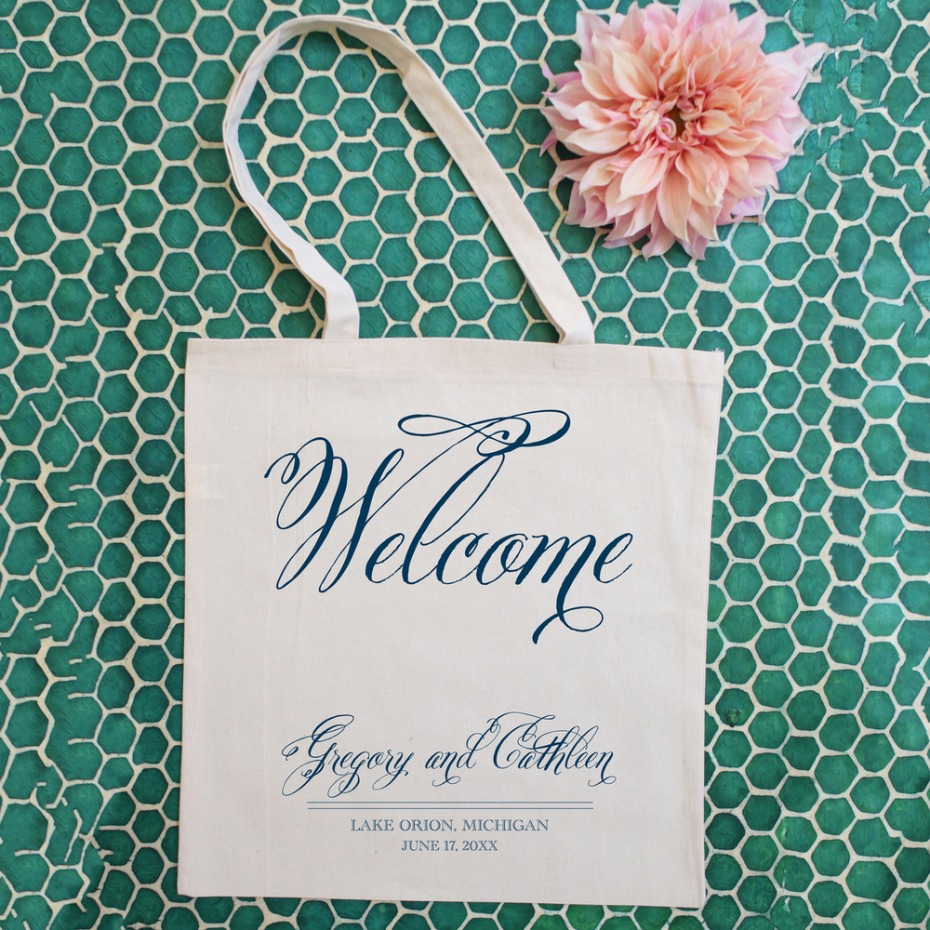 Lavish Welcome Wedding Tote Bag