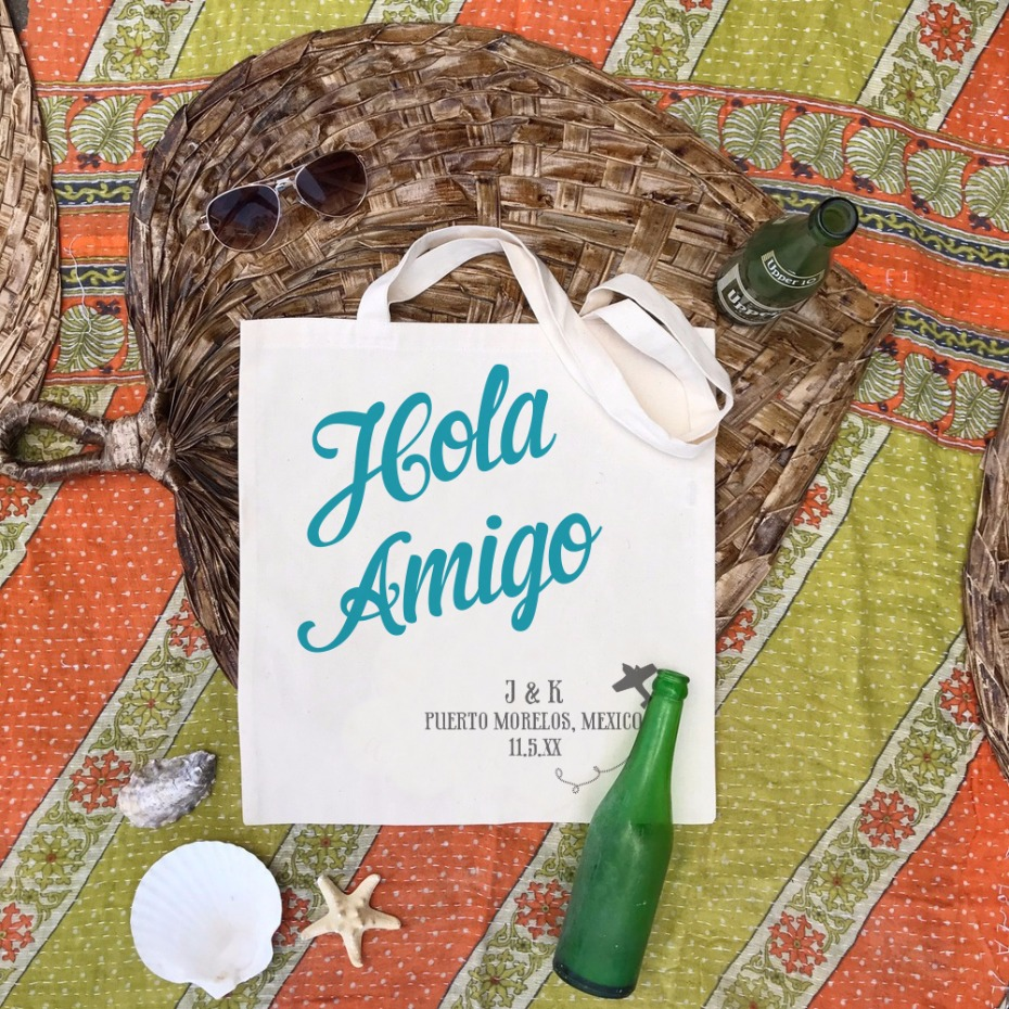 Hold Amigo Wedding Tote Ideas