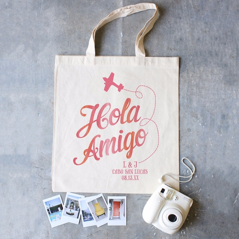 Hola Amigo Wedding Tote Ideas