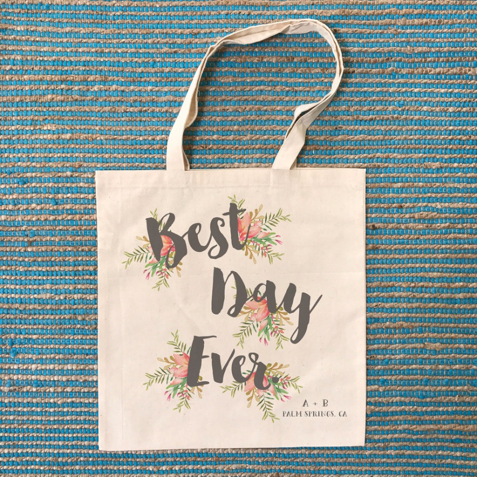 Best Day Ever Wedding Tote