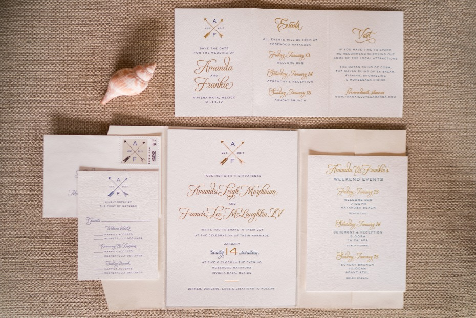 Beach invitation suite
