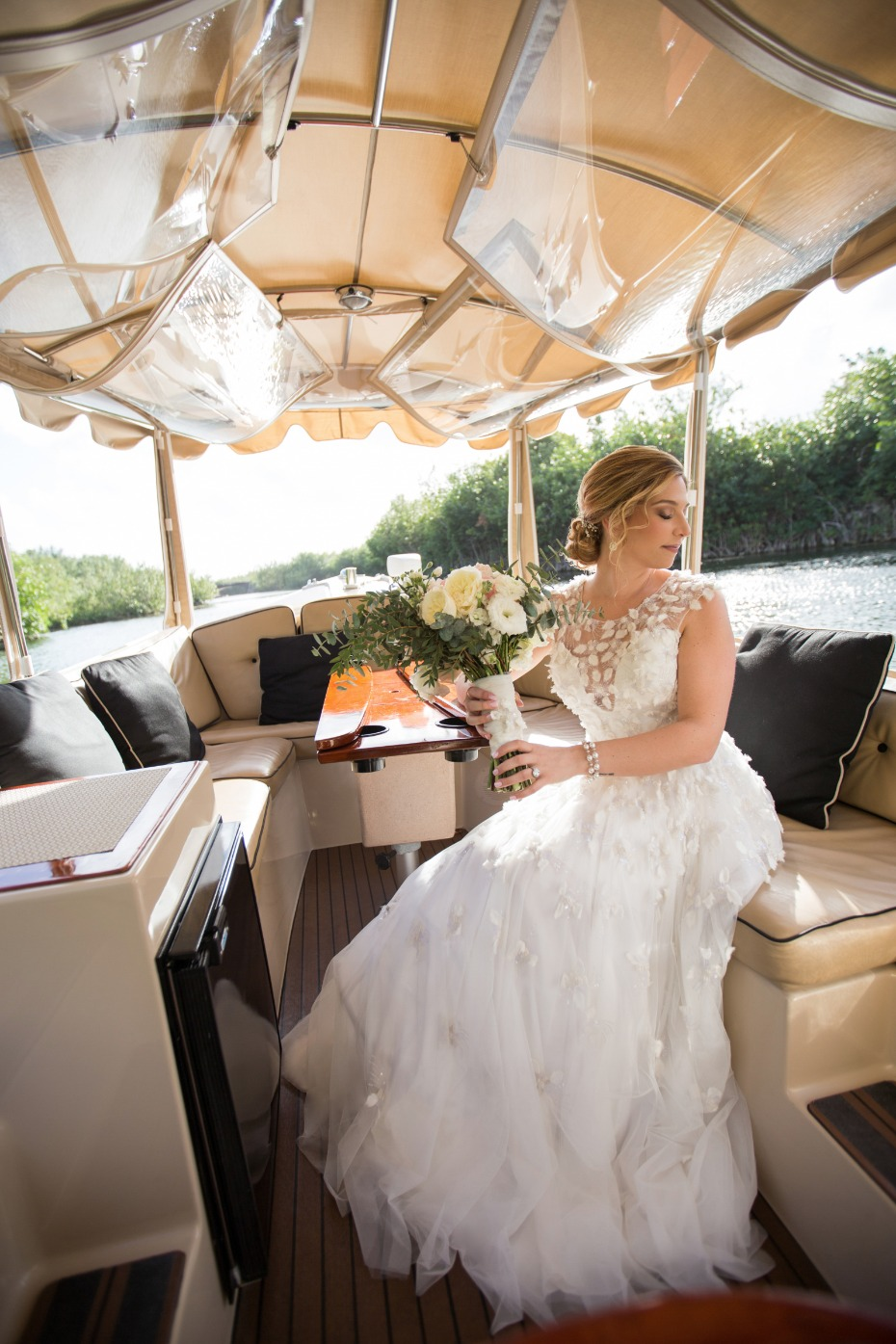 Boat ride for the bride