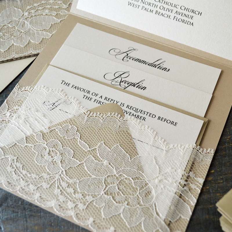 RSVP cards are always included in your wedding stationery, but other insert cards will provide important information that your guests