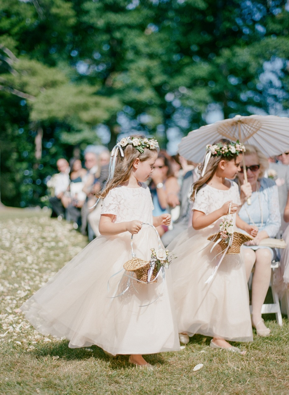 cute little matching flower girls