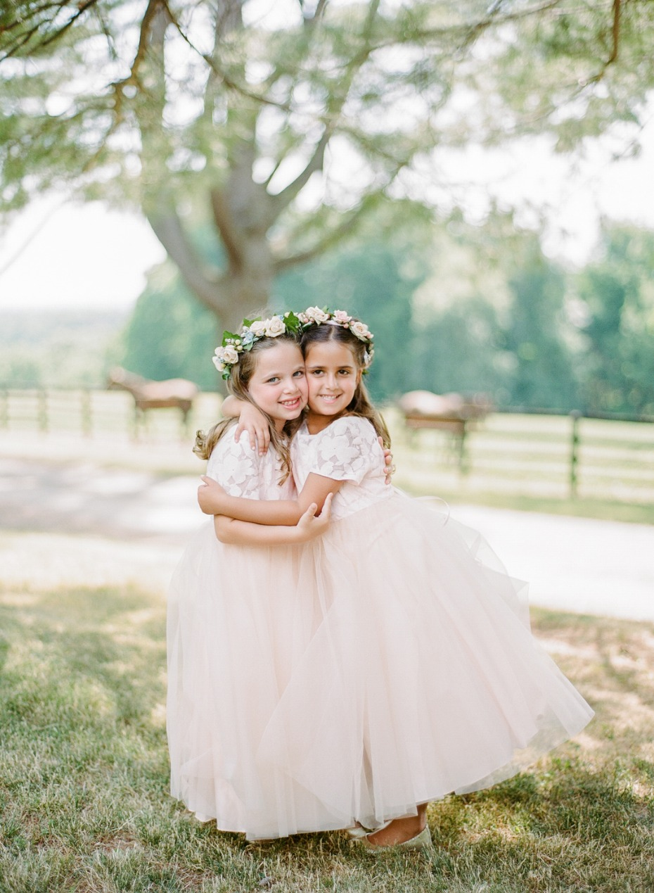 blush flower girls dresses