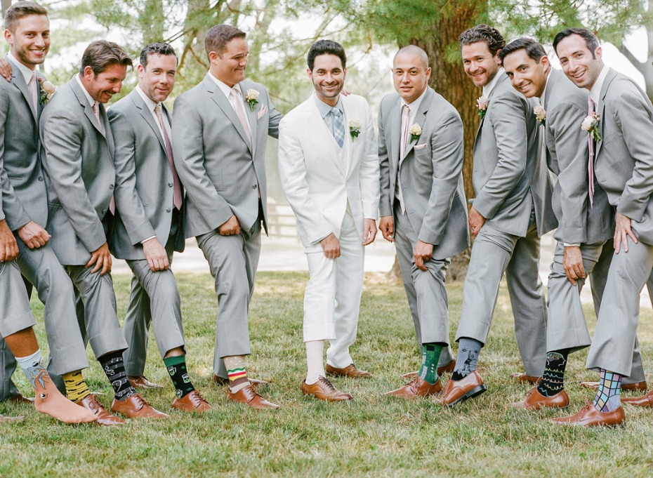 groomsmen custom wedding socks