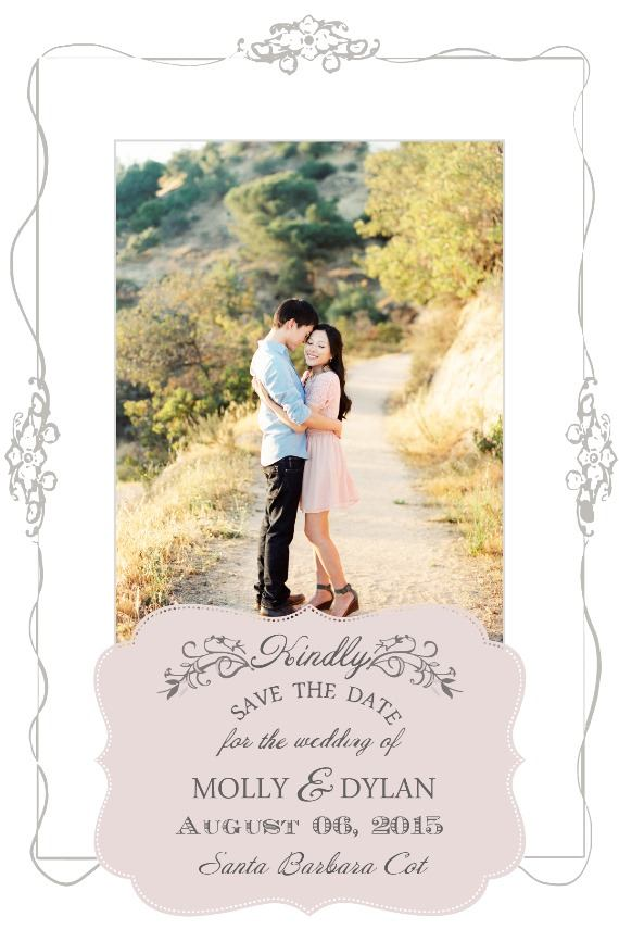 Vintage Postcard Free Printable Photo Save The Date