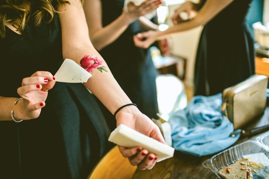 Temporary tattoo for the bridesmaids