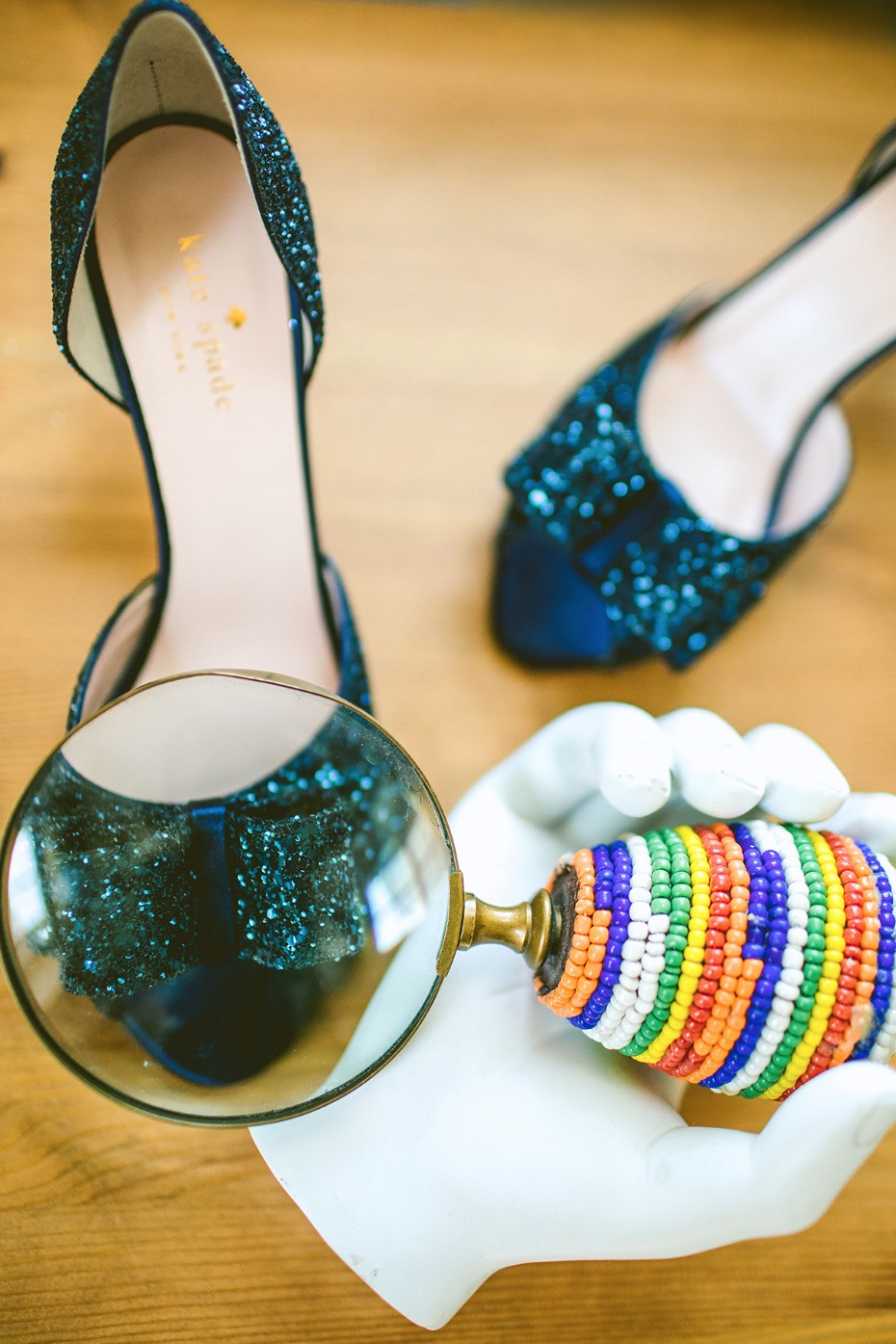 Sparkly wedding heels from Kate Spade