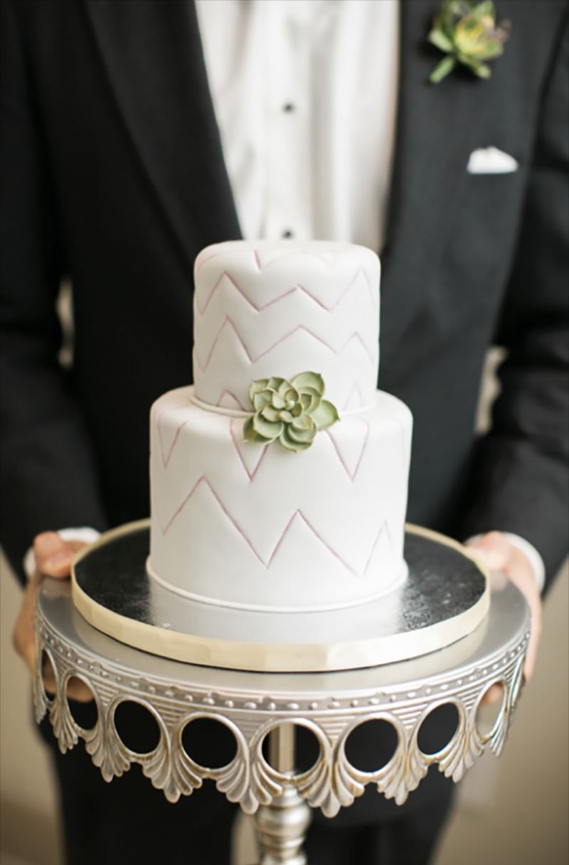 Simply classic: Handsome Groom, Simple Tiered Cake, Antique Silver Crown Cake Stand ...ohhhh and succulents!