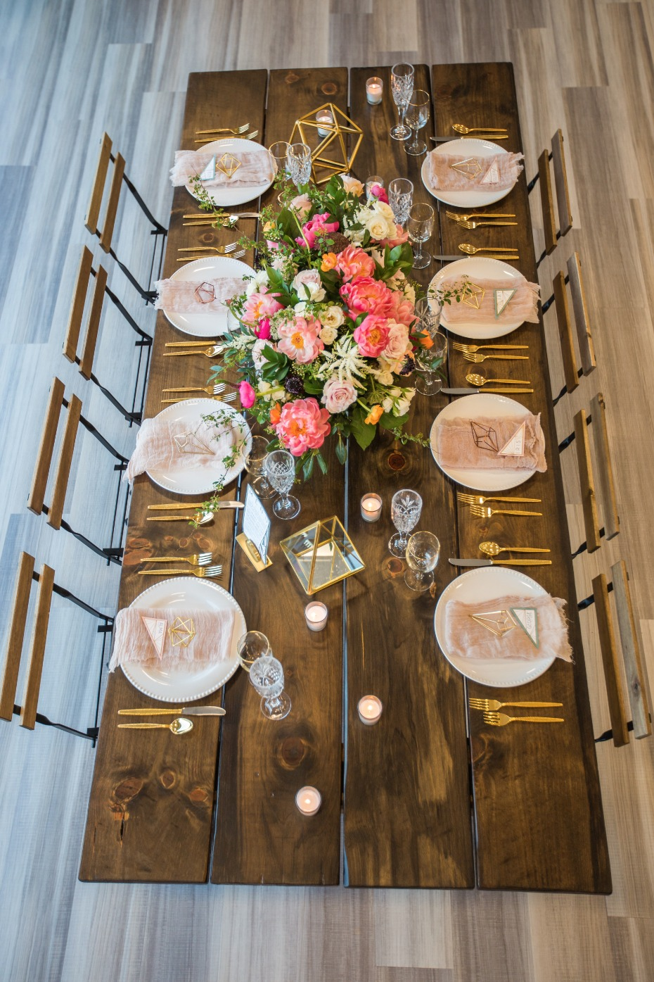 rustic chic modern wedding table decor