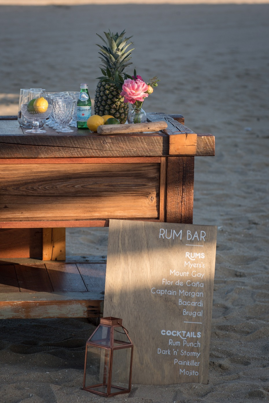 rum bar wedding sign