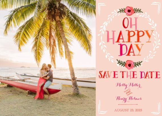 Print: Pretty in Pink Free Printable Save The Date