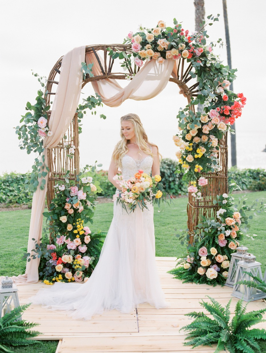 Colorful oceanfront wedding ideas