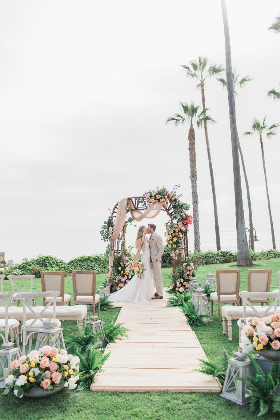 Oceanfront beach wedding