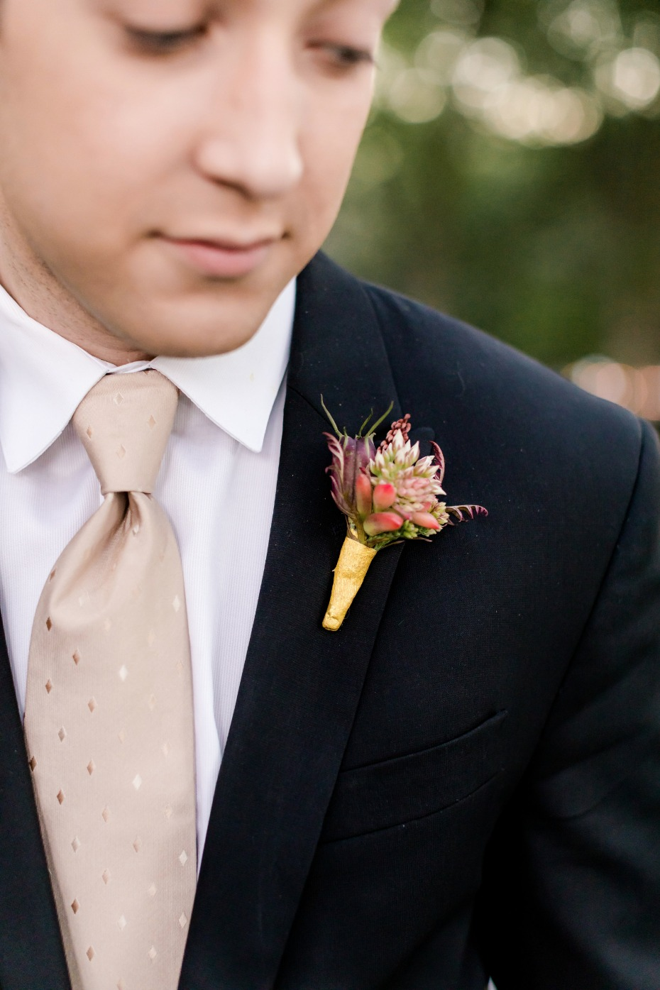 champagne tie for your groom