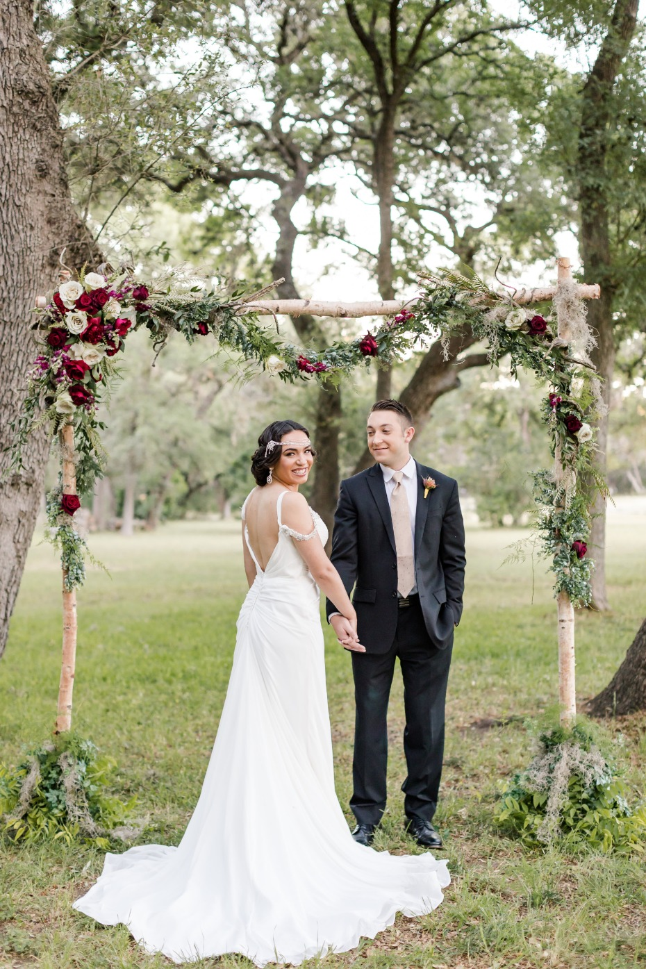 boho chic Star Wars wedding ceremony