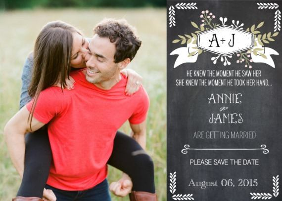 Print: Chalkboard Free Printable Save The Date