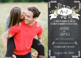 Chalkboard Free Printable Save The Date