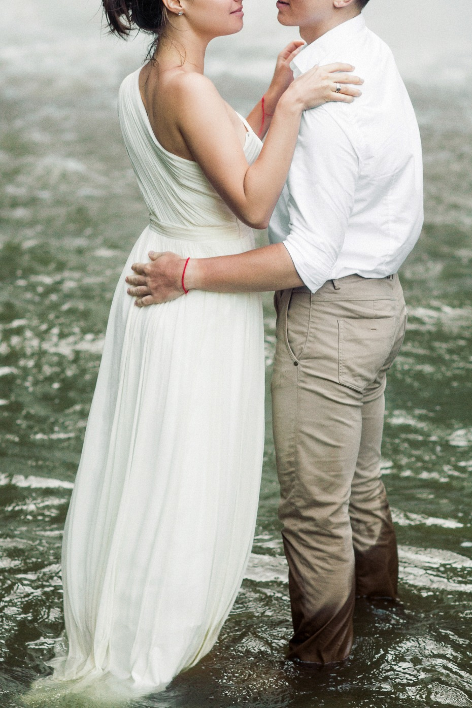 romantic waterfall wedding portraits