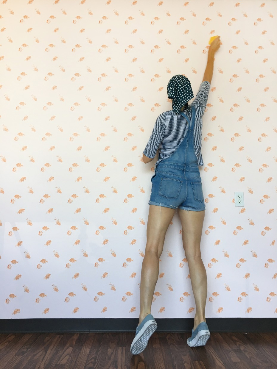 DIY Adhesive Wallpaper