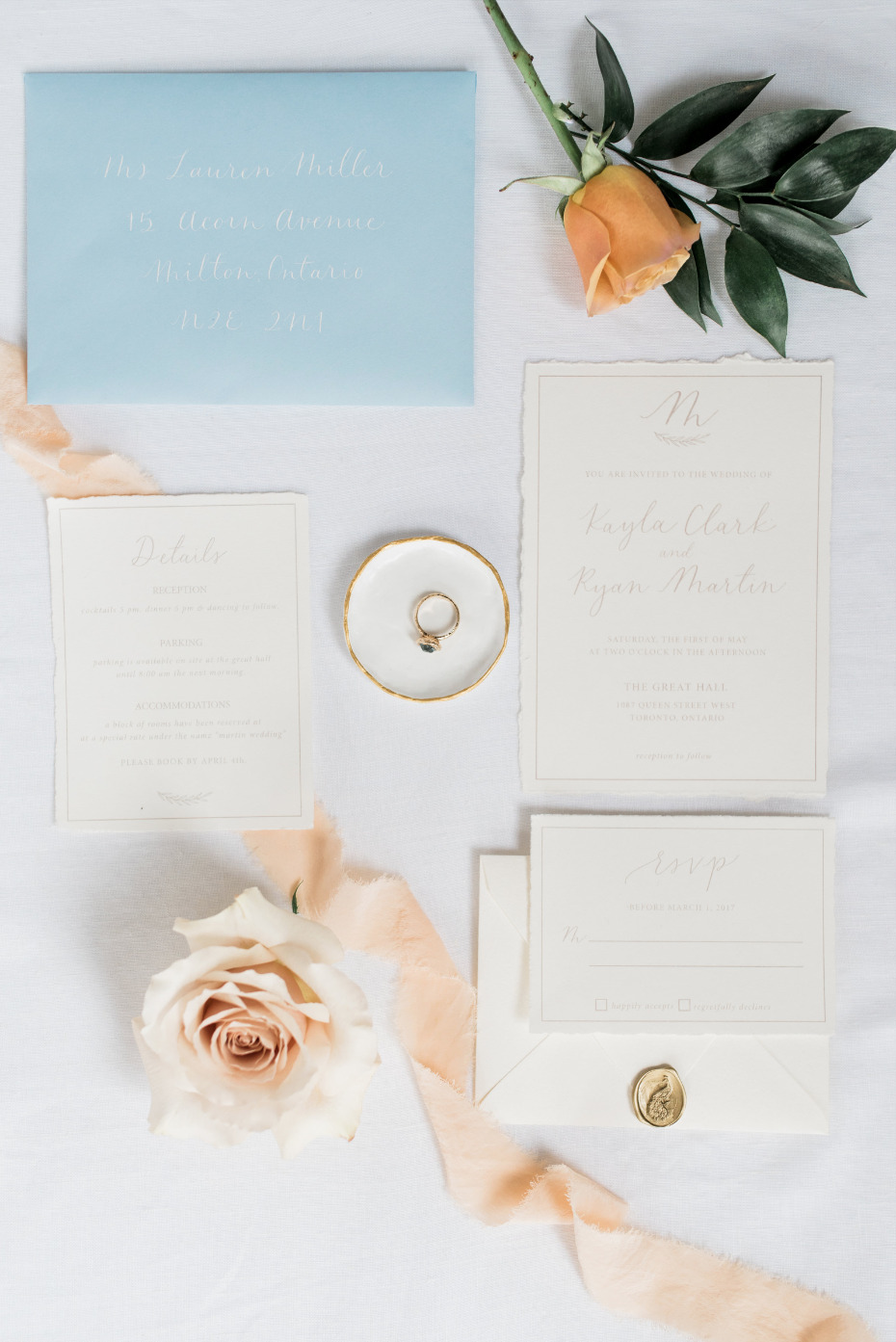 Flourish and Quill Paper Co fancy wedding invtiations