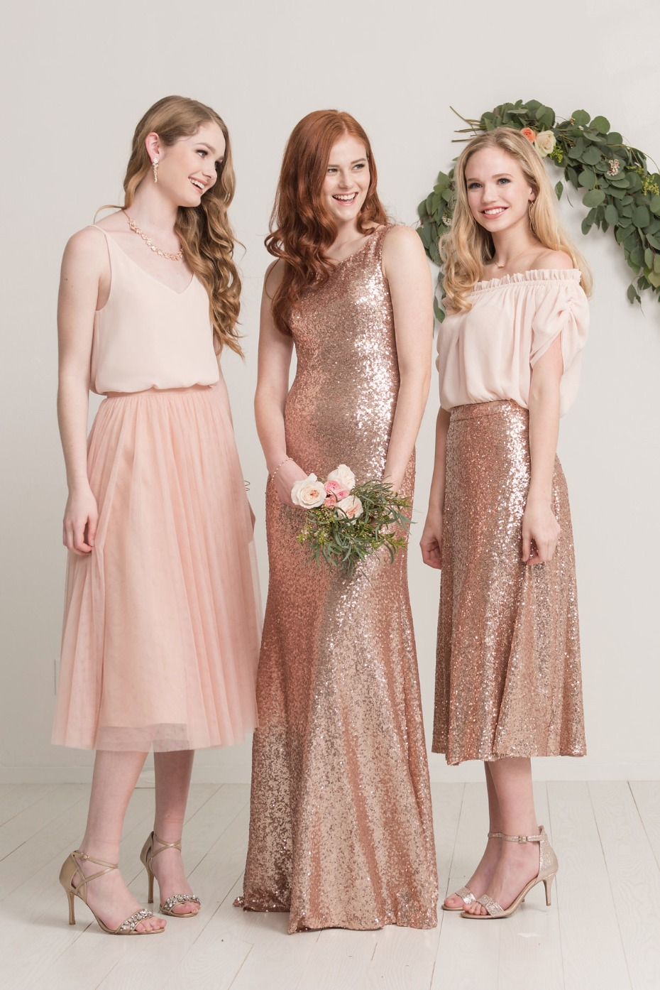 Mix and match bridesmaid dresses from Love Tanya