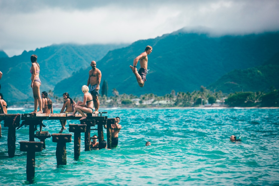 50 things to do besides going out to drink. Jump in the water!