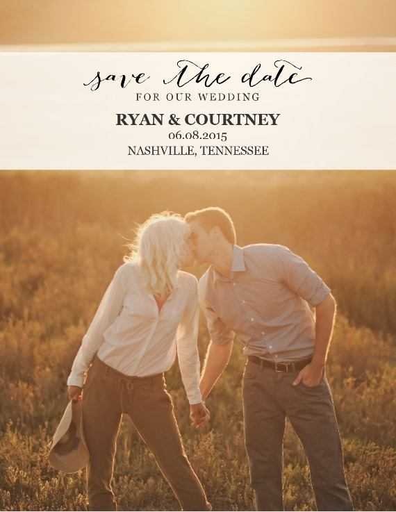 Print: Free Printable Photo Postcard Save the Date